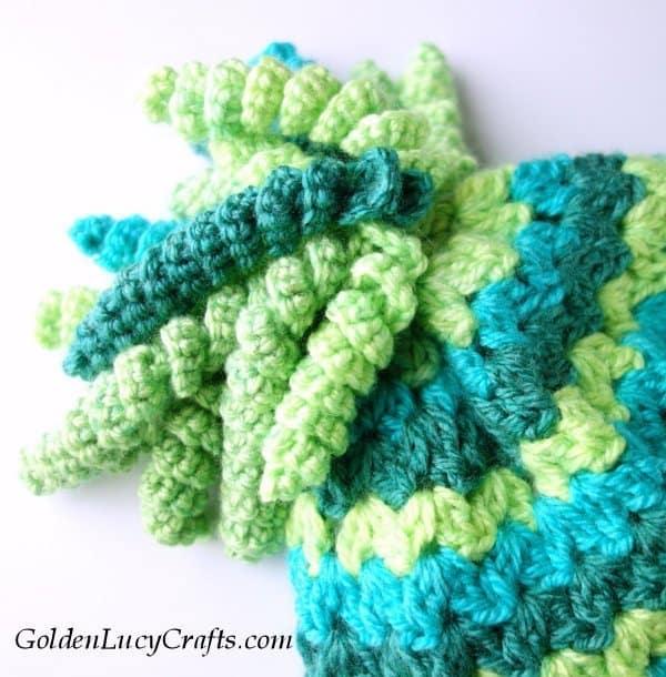 Spirals, crochet hat with spiral top