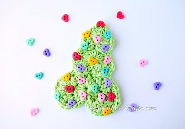 Crochet Hearts Christmas Tree