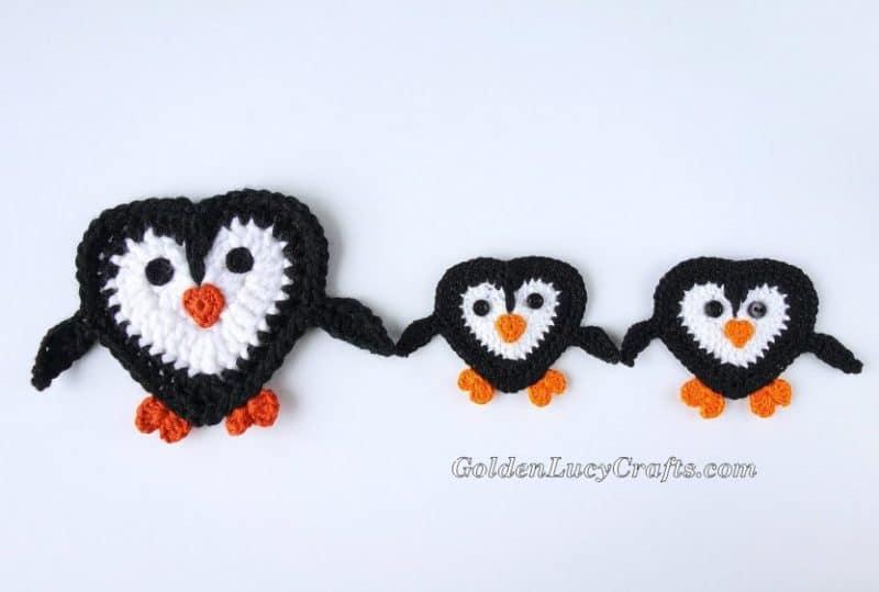 Crochet Penguin Applique