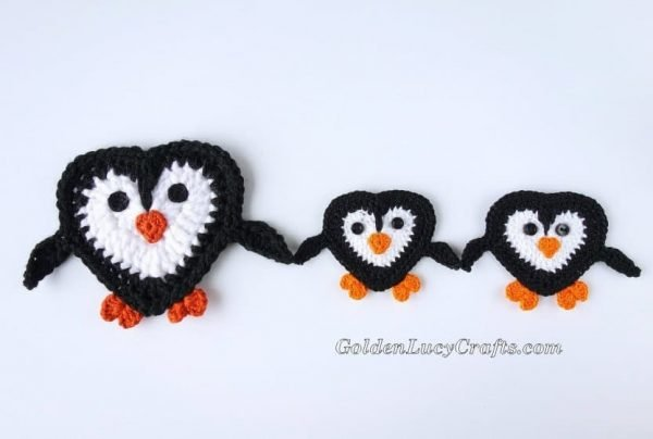 Crochet Penguin Applique