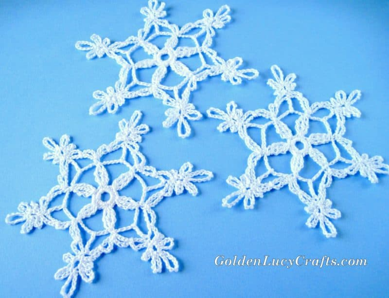 Crochet Snowflake Free Crochet Pattern Goldenlucycrafts