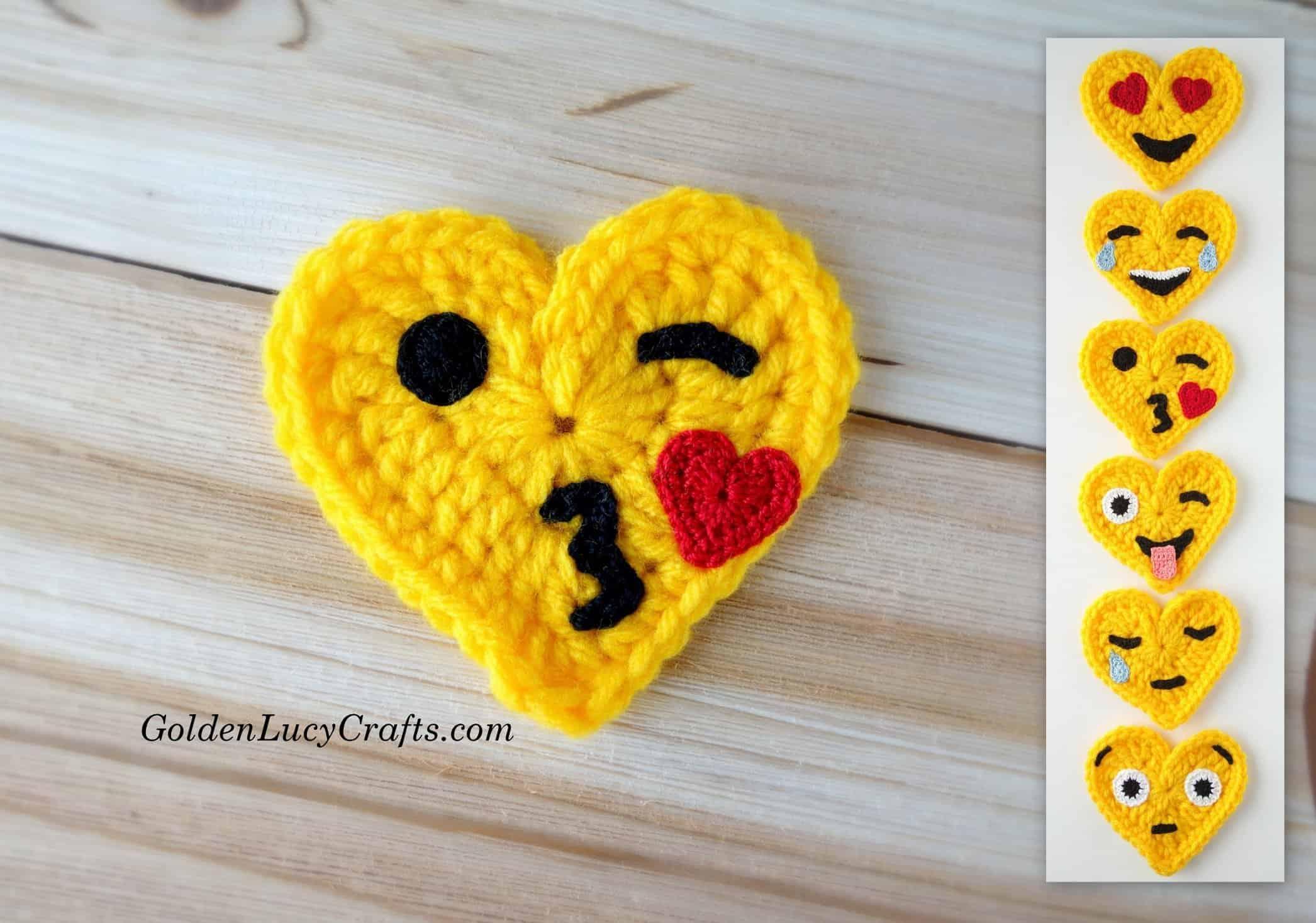 Blowing Kiss Crochet Emoji