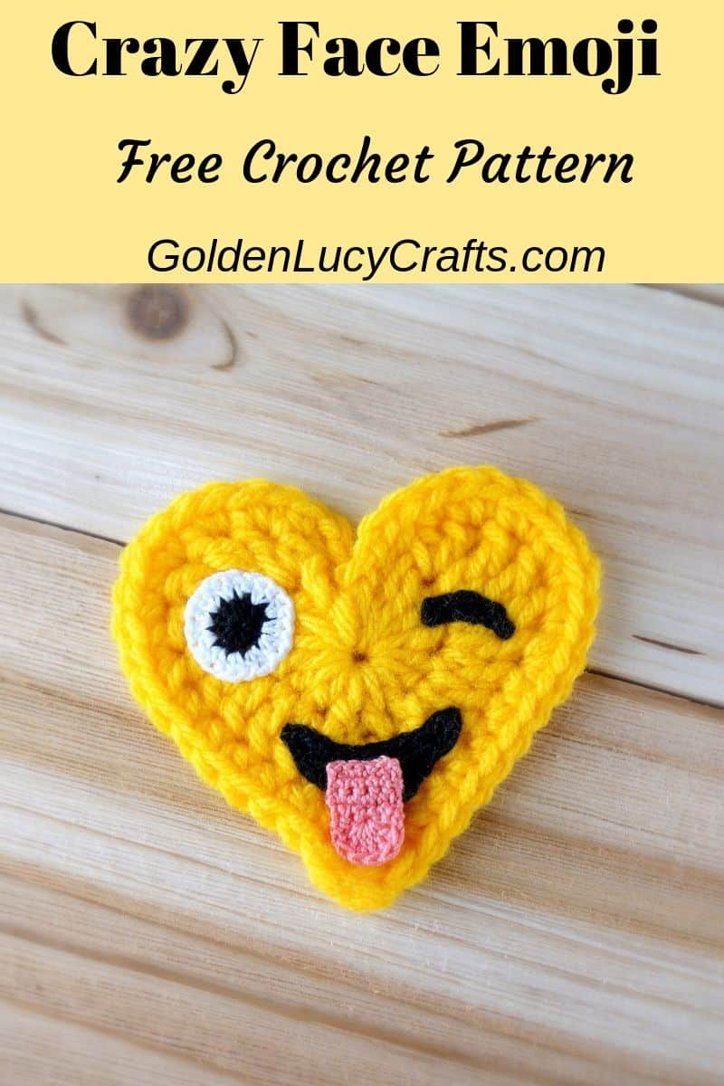 Crochet emoji crazy face