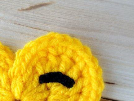 Crochet Emoji - Winking Eye