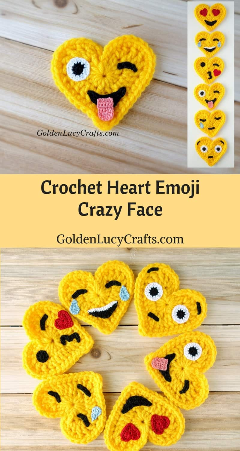 Crochet Emoji - Crazy Face