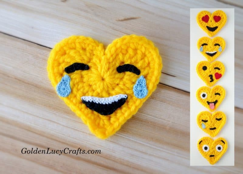 Crochet Emoji Tears of Joy