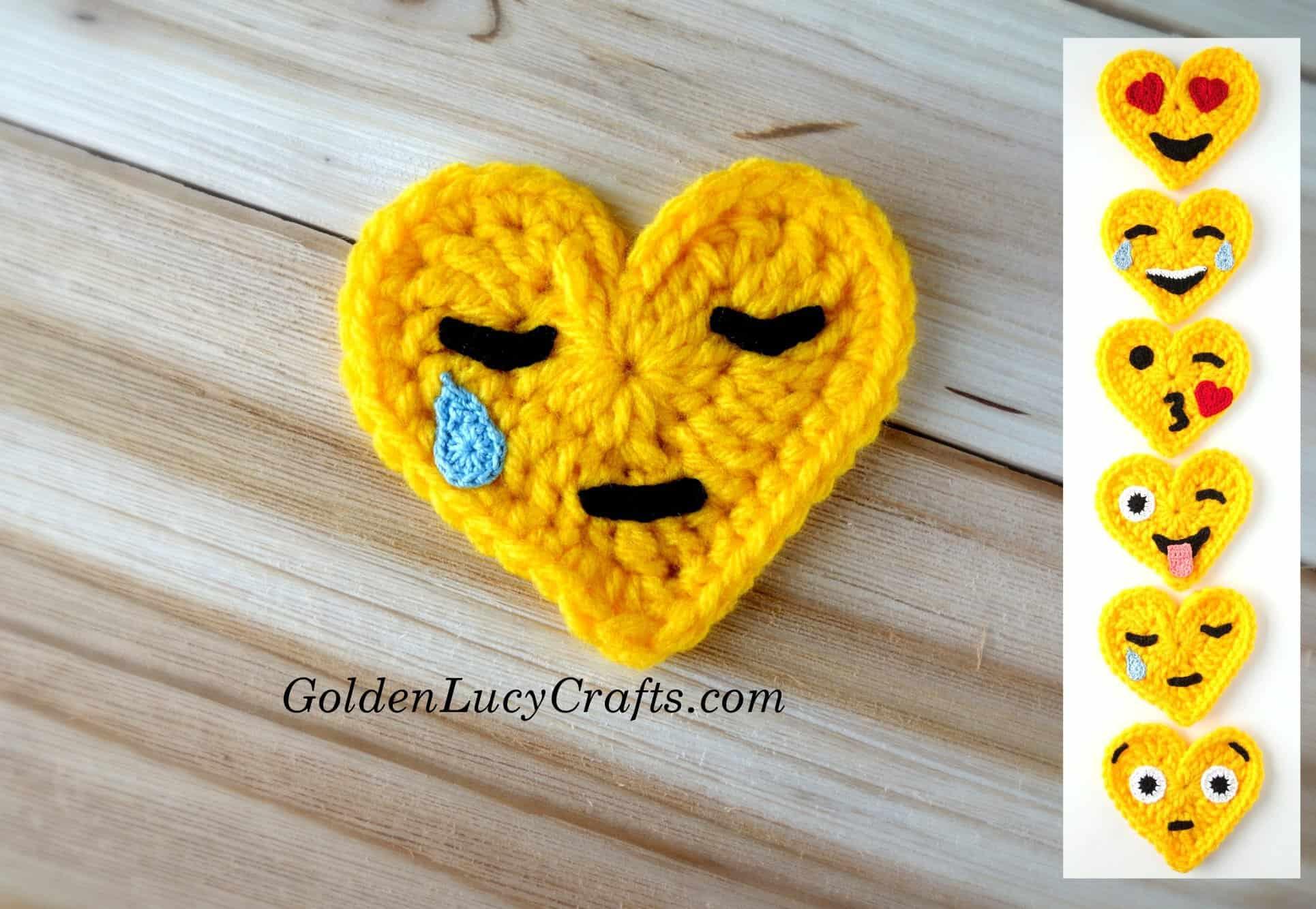 Crochet Emoji Crying Face