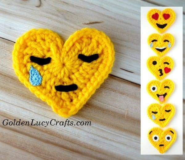 Crochet Emoji Crying Face, free pattern