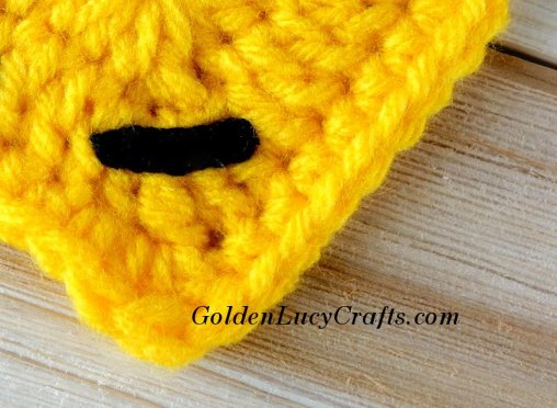 Crochet Emoji Crying Face