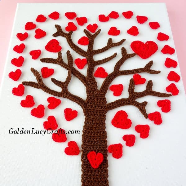 Crochet Heart Tree