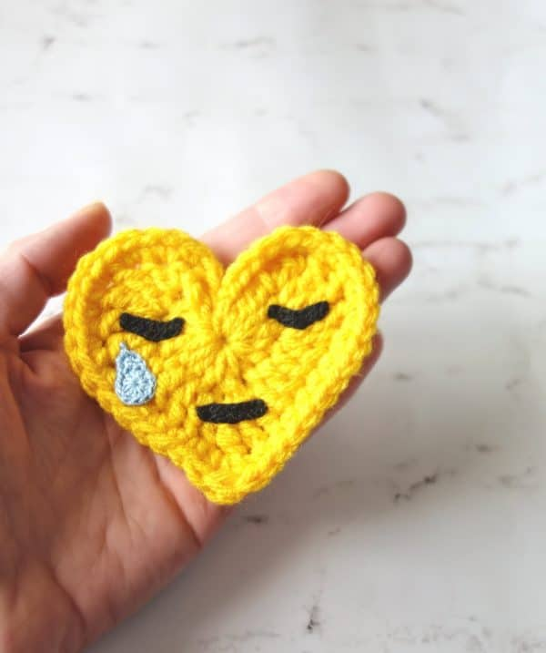 Crochet emoji applique