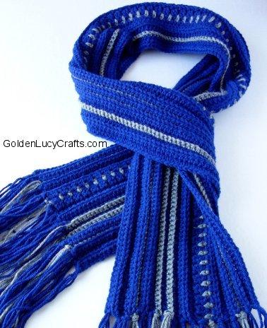 Father's day crochet patterns, Men's Scarf Crochet Pattern