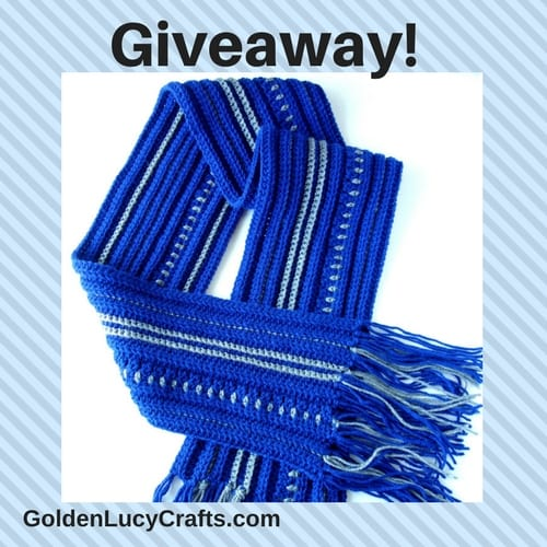 Mens Scarf New Pattern And Giveaway Goldenlucycrafts