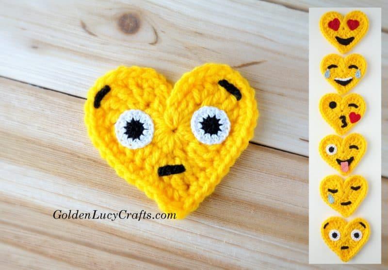 Surprise Face Crochet Emoji