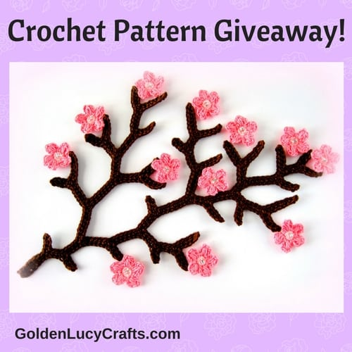 Cherry Branch crochet pattern-Giveaway!