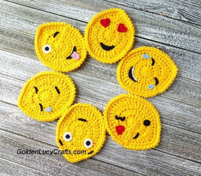 Easter Egg Emoji, free crochet pattern