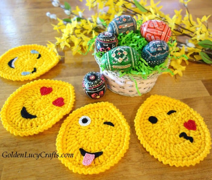 Easter egg emojis crochet pattern free