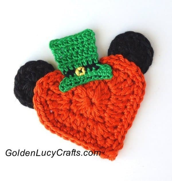 St. Patrick's Day Mickey Mouse Crochet Applique