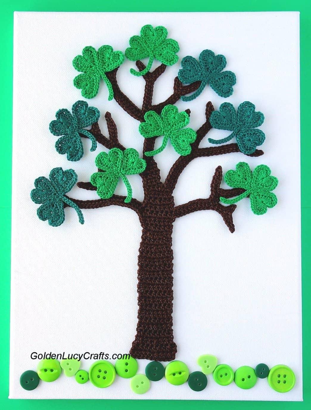 Crochet Shamrock Tree