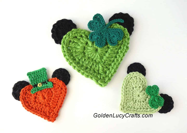 St Patricks Mickey Crochet Applique