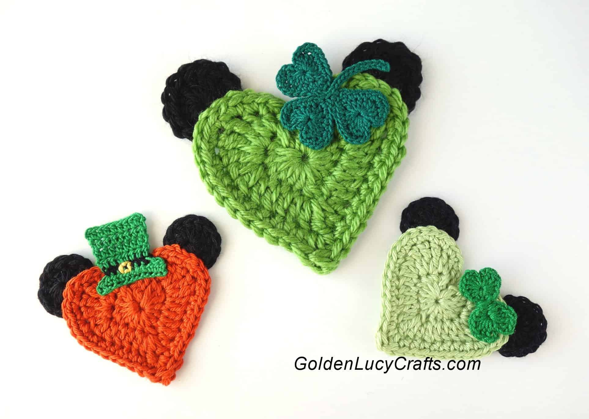 St Patricks Day Mickey Mouse Crochet Applique Minnie Mouse Free