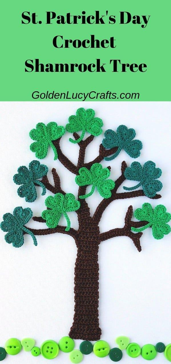 St. Patrick's Day Crochet Shamrock Tree