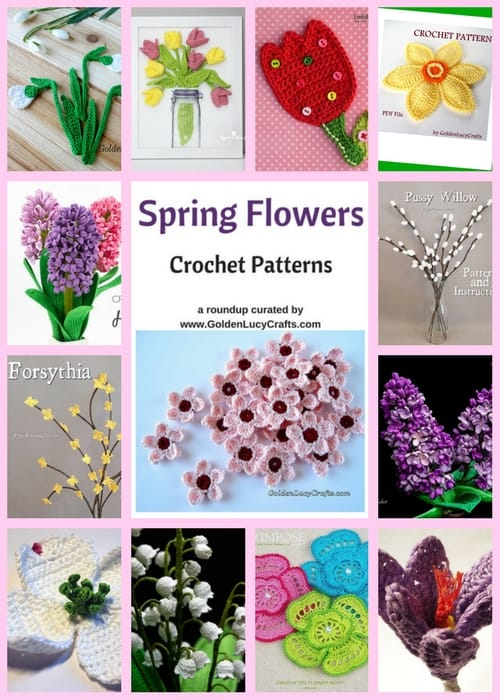Spring Flowers crochet patterns