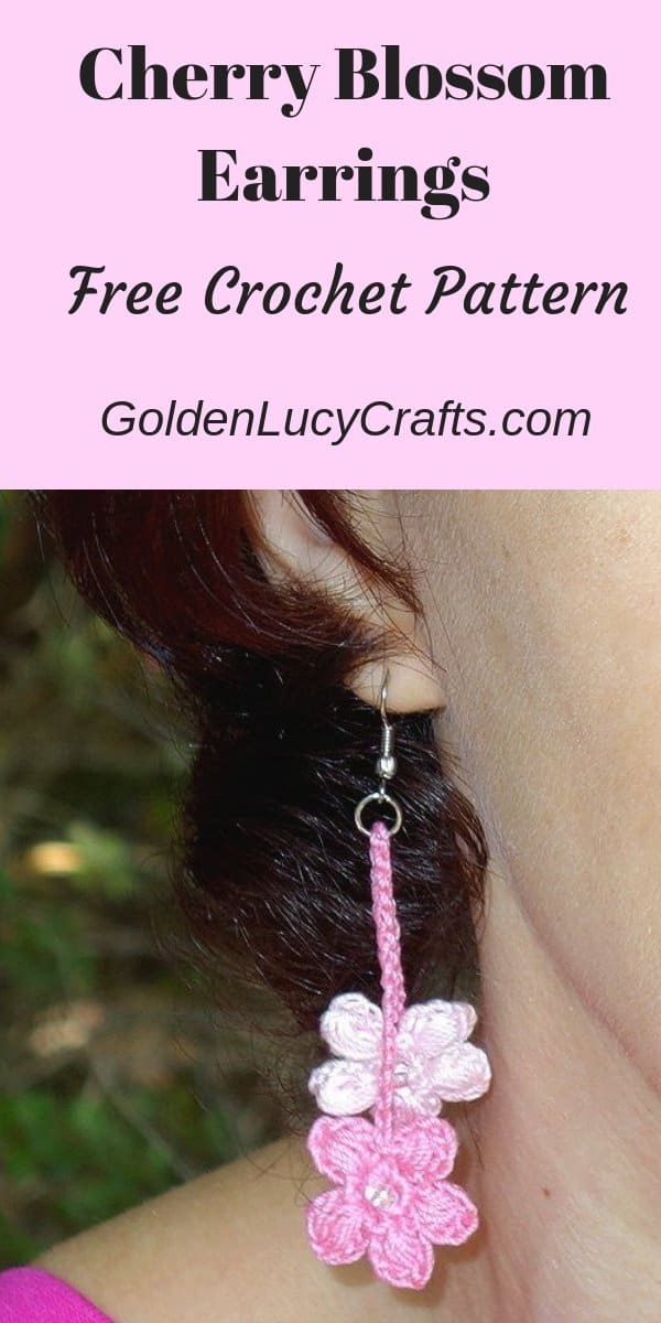 Crochet Earrings, free crochet pattern, crochet jewelry