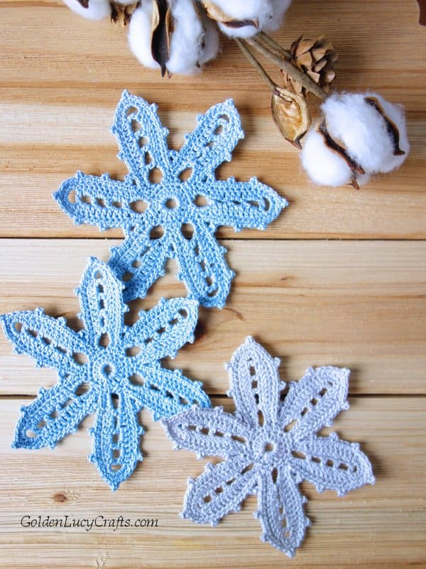 Crochet Irish flower pattern free