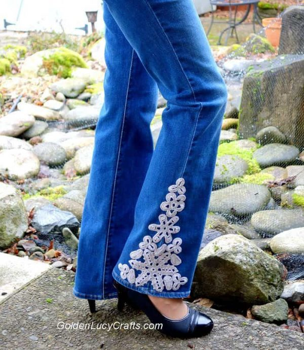 Crochet Jeans Embellishment ideas, DIY, inspiration