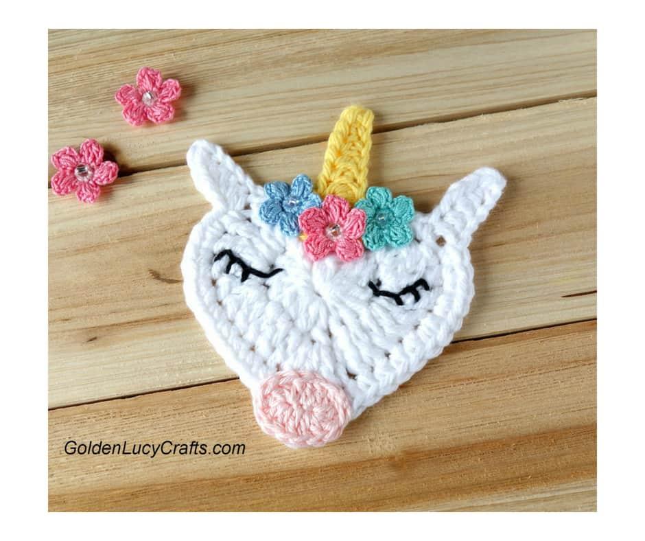 Flipboard Crochet Unicorn Applique Free Crochet Pattern