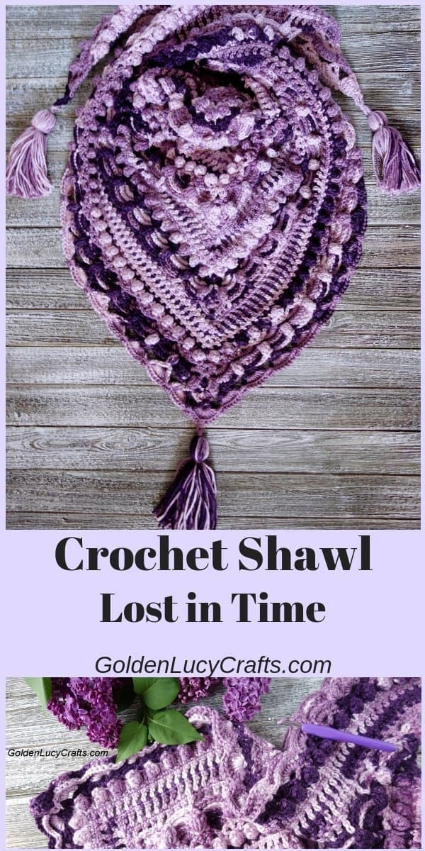 Crochet Lost in Time Shawl