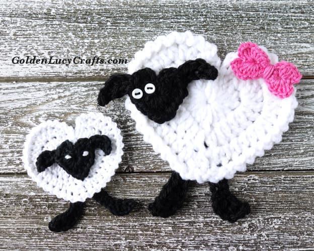 d3339d47bfb193 Crochet Sheep Applique