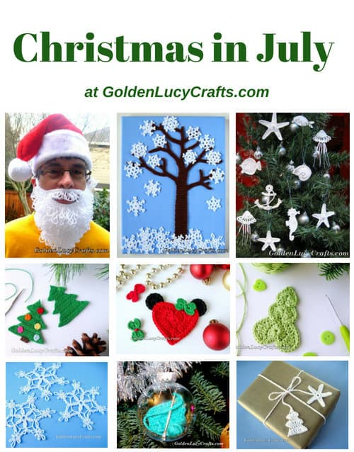 Christmas in July at GoldenLucyCrafts