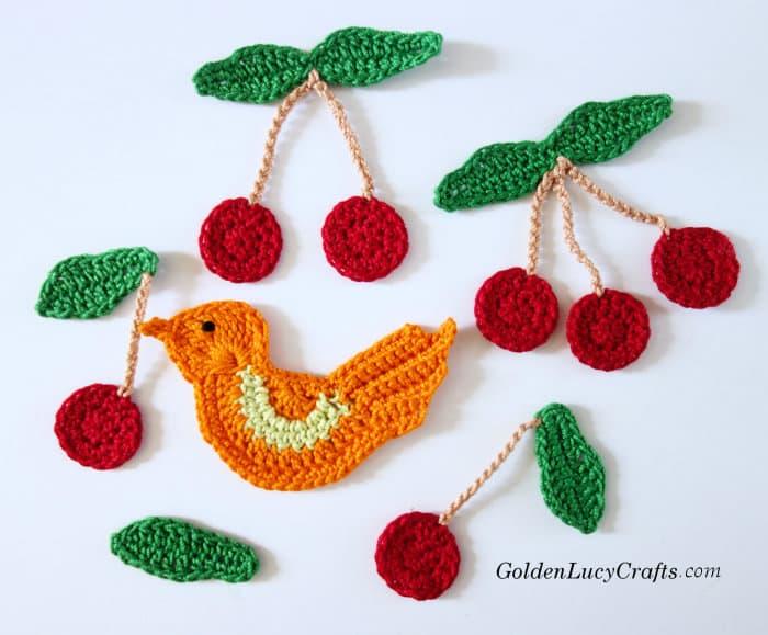 Crochet cherries