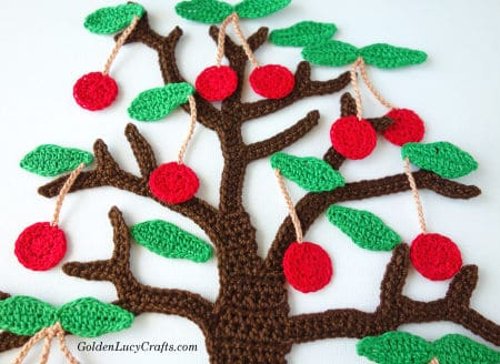 Crochet cherry tree