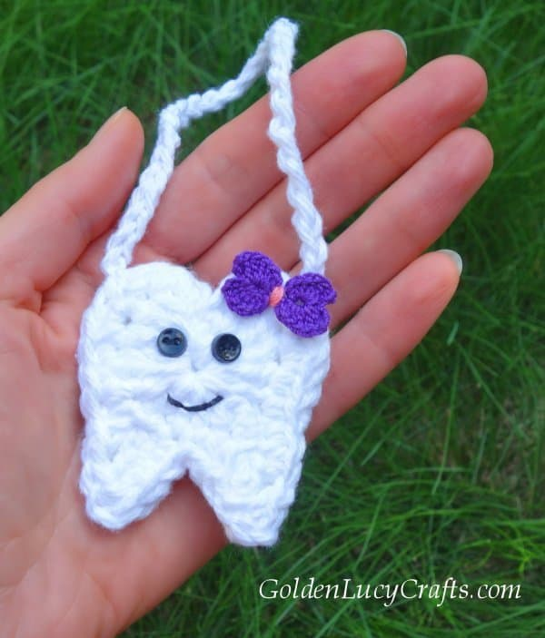 Crochet tooth fairy pouch free pattern, tooth fairy idea