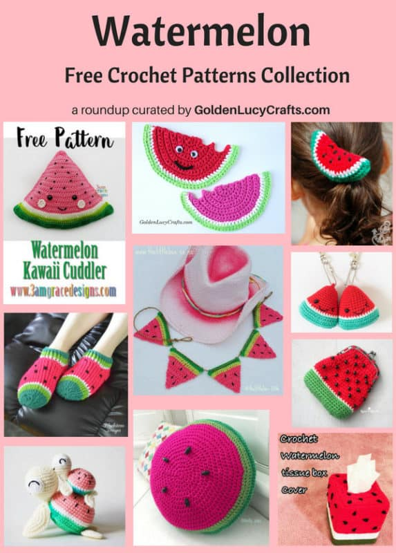 Watermelon free crochet pattern roundup
