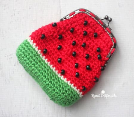 WatermelonPurse- part of Watermelon free crochet pattern roundup