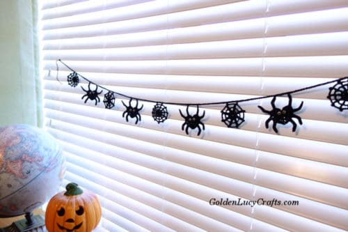 Crochet Spider Garland