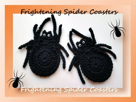 Crochet Spider free pattern, roundup, spider coasters