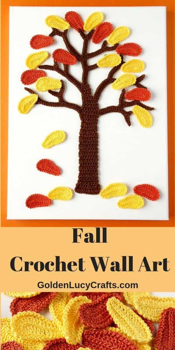 Fall Tree Crochet Wall Art idea