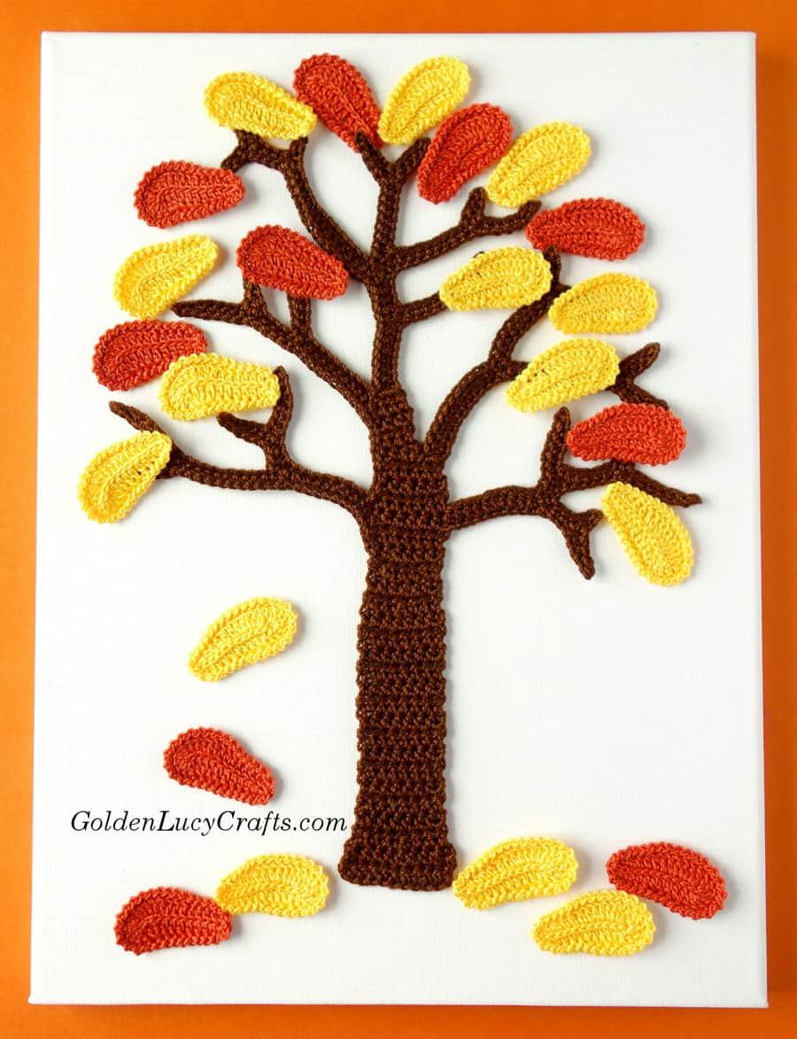 Crochet Wall Hanging Fall Tree