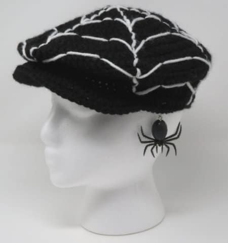 Crochet spider patterns roundup - spider web hat