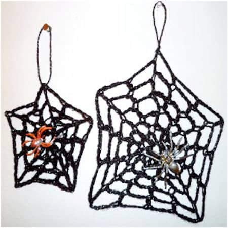 Spider crochet pattern, roundup - spider web decor