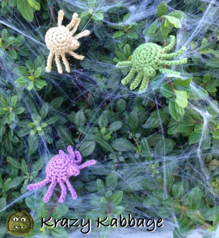 Spider crochet pattern, part of roundup