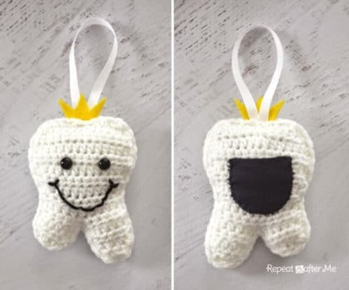 Tooth Fairy Crochet Patterns Roundup - tooth fairy pillow
