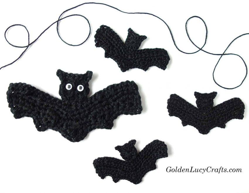 Crochet Bat free pattern, Halloween bat