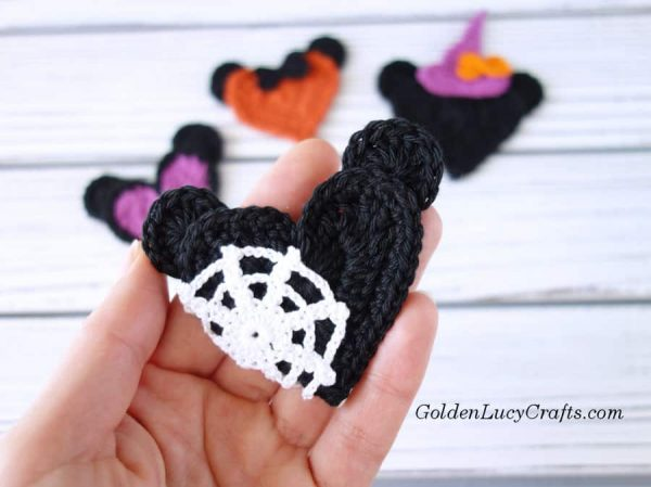 Crochet Halloween Mickey Spider