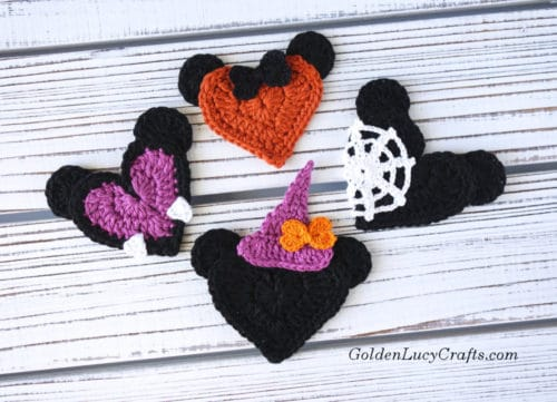 Crochet Halloween Mickey and Minnie